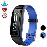 Fitness Tracker Smart Watch, Activity Tracker mit Pulsmesser, Farbbildschirm Fitness Watch mit Anruferinnerung Schlafmonitor Blutdruckmonitor Schrittzähler