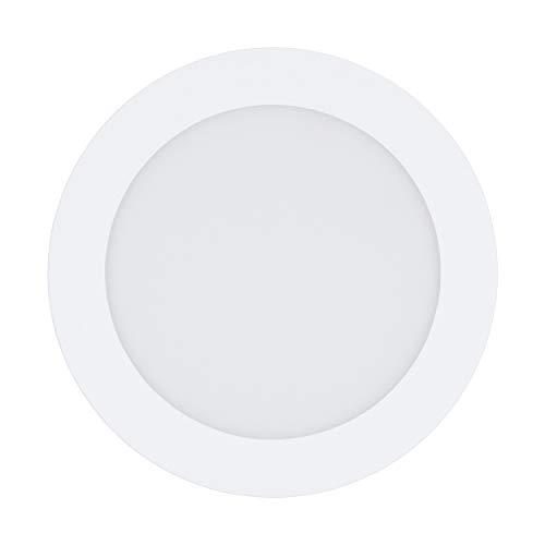 10.5 W Led (LED Einbaustrahler FUEVA-C von EGLO - Smart Home Einbauleuchten in weiß 10.5W aus Metallguss und Kunststoff - EGLO Connect Spots mit Farbwechsel und über Fernbedienung, App oder Alexa steuerbar)