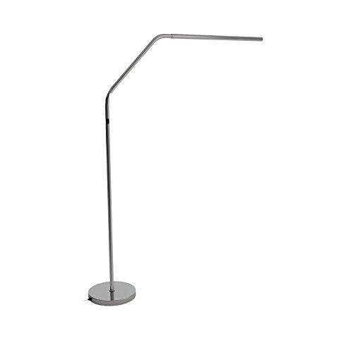 Slimline LED Floor Lamp-Brushed Chrome