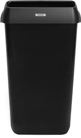Katrin Abfalleimer, Deckel, 25 l, 330 x 230 x 550 mm, schwarz
