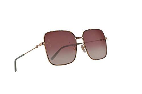 Gucci GG0443S Sonnenbrille Gold Mit Violettem Verlaufsglas Gläsern 60mm 003 GG0443/S 0443/S GG 0443S