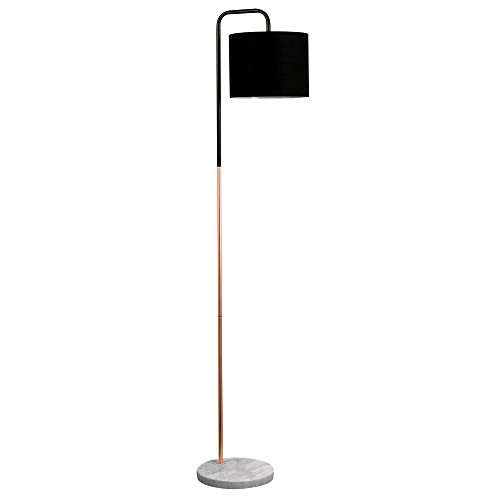 retro-style-black-copper-metal-white-marble-base-floor-lamp-complete-with-a-black-fabric-cylinder-sh