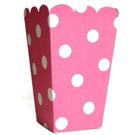 """10 Fröhliche Rosa Weiße Popcorn-Schachteln aus der Serie """"Colored Carnival"""""""