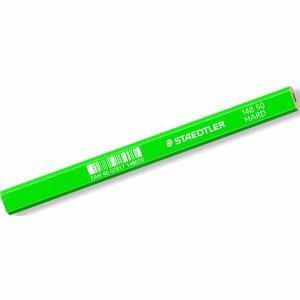 12 x Staedtler Zimmermannsbleistift hart grün oval/sechskant 175mm