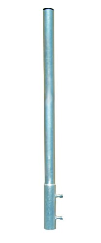 Mastverlängerung 100 cm Ø 50 mm ALU Mastaufsatz Antennenmast Verlängerung Sat-Mast-Halter Aluminium mit Mastkappe