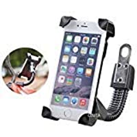 SYSTEM BREAKER 111 Universal Bike/activa/scooty/3/4/5/g Mirror Holder 360 Degree Rotating Bicycle Holder Motorcycle Cell Phone Cradle Mount Holder Mobile Phones (Activa & Bike Holder) (1 Piece)