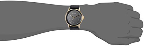 Nixon Men's 'Stark' Quartz Stainless Steel and Leather Casual Watch, Color:Rose Gold-Toned (Model: A1194)