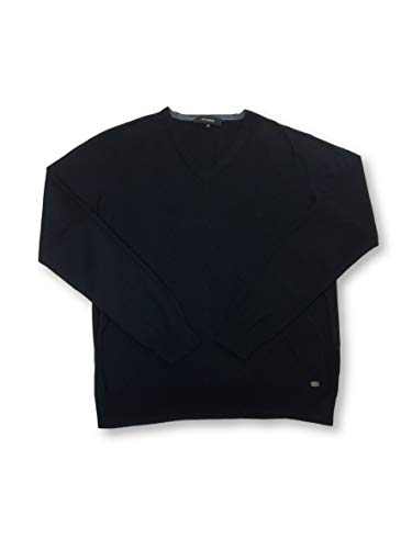 Roy Robson Knitwear in Dark Navy with Cable Knit L