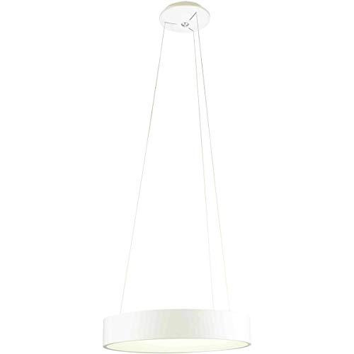 Suspension design LED EPSILON blanche en métal