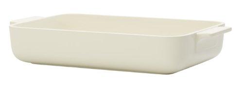 Villeroy & Boch Clever Cooking Rechteckige Backform, 30 x 20 cm, Premium Porzellan, Weiß