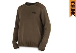 Fox Chunk Heavy Knit Jumper Khaki