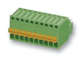 TERMINAL BLOCK, PLUGGABLE, 2POS, 20AWG FK-MC 0,5/2-ST-2,5 By PHOENIX CONTACT -