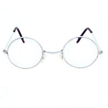 Brille Oma / Opa, rund ohne Gläser, Metall (Brille Oma)