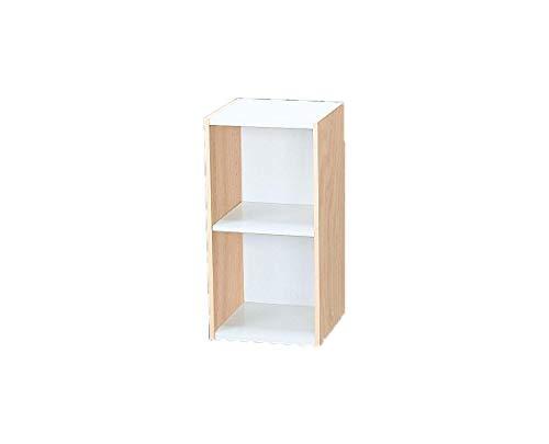 Iris Ohyama Space Saving Shelf UB-6030 L.Brown/White Meuble de Rangement Petit Espace/Etagere modulable Gain de Place UB-6030-Chêne Clair et Blanc, 30 x 29 x 60 cm, Bois, Beige, 30 cm