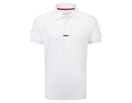 Henri Lloyd Fast Dri Silver Plain Polo in Optic White Y30282 Sizes- - ExtraLarge