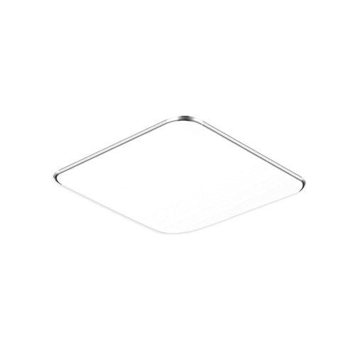 SAILUN 12W Kaltweiß Ultraslim LED Deckenleuchte Modern Deckenlampe Flur Wohnzimmer Lampe Schlafzimmer Küche Energie Sparen Licht Wandleuchte Farbe Silber -