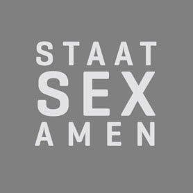 TEXLAB - Staat Sex Amen - Langarm T-Shirt Weiß