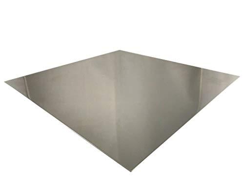 Edelstahlblech 2 mm V2A Blech K240 geschliffen 1.4301 Zuschnitte Edelstahlplatte Wunschmaß möglich (600mm x 500mm)