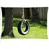 Tire Swing (surprised gift Tire swing Custom Zippered Pillow Cases 20x30 Inch)