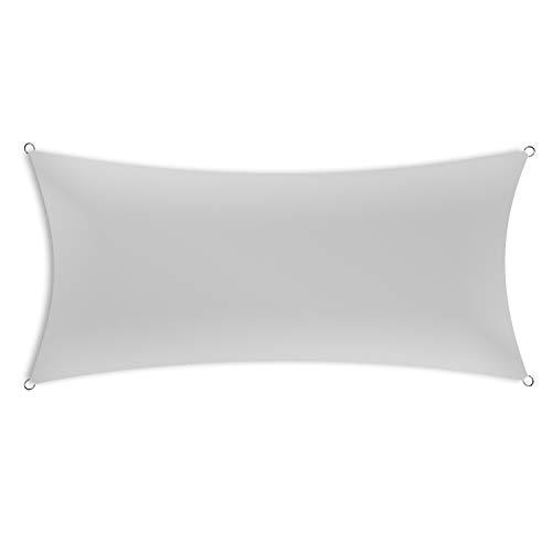 Schramm® Sonnensegel rechteckig in 4 verschiedenen Größen und 2 Farben Sonnen Segel Sonnenschutz Sichtschutz Windschutz, Farbe:grau, Größe:2 x 3 m