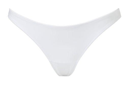 Panache Damen Tanga 3379 Thong Weiß (Blanc)
