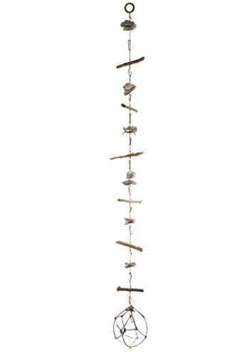 Nautical Crush Trading Girlande, Treibholz mit Austernmuschel und Glas-Schwimmgirlande, 122 cm