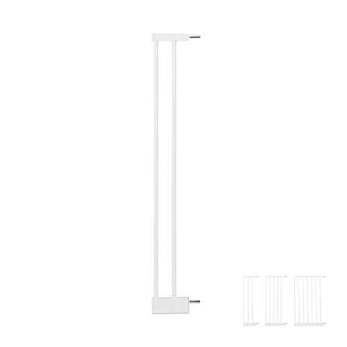 Relaxdays Schutzgitter Verlängerung M, clevere Türgitter Erweiterung, steckbarer Gitter Aufsatz Treppe, 10cm breit, weiß, Eisen