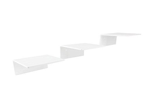 *Katzentreppe weiß, Komplettset, 3stufig, aus PLEXIGLAS® – Stufengröße: 14 x 15 cm*