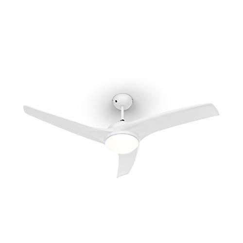 Klarstein Figo 2019 Edition • Deckenventilator • integrierte Beleuchtung • 3 Geschwindigkeiten • Sommer- oder Winterbetrieb • 3 Flügel • niedriger Stromverbrauch • 55 Watt • Fernsteuerung • weiß