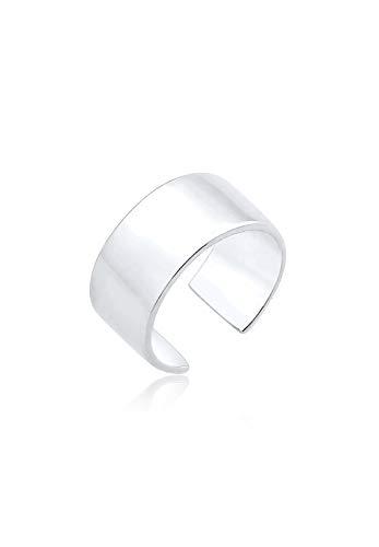 Elli Damen Echtschmuck Ohrringe Basic Single Earcuff Trend in 925 Sterling Silber