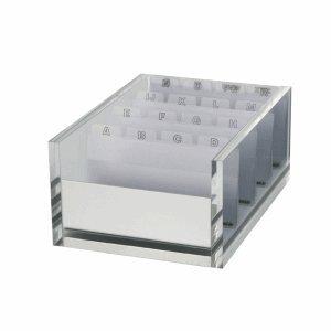 Maul Visitenkartenbox Maulacro Acryl glasklar