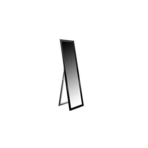 Miroir psyché sur pied en verre - 30x120x1,5 cm - Contour en polystyrene - Noir - Style moderne