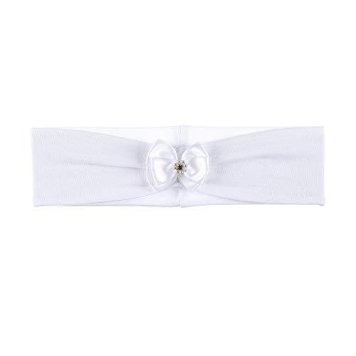 Sterntaler Stirnband für Mädchen mit edlem Schleifchen, Alter: 4-5 Monate, Größe: 41, Weiß