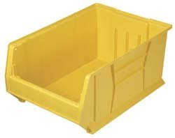 Containers Stacking Plastic (Quantum QUS952 Plastic Storage Stacking Hulk Container, 24-Inch by 11-Inch by 7-Inch, Yellow, Case of 4 by Quantum Storage Systems)