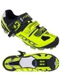 Force bicicleta guantes MTB Hard 9406239, fluo-schwarz, 42 UE