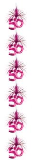 1 Pink Riesen Kaskade 50. Geburtstag Girlanden