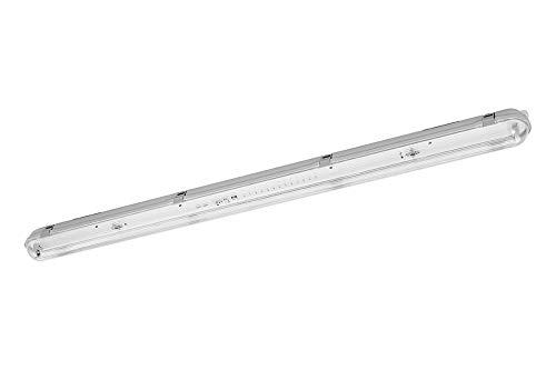 PureLed SET LED Feuchtraumleuchte Wannenleuchte IP65 mit 1X T8 LED 23W warmweiß 3000K G13 150cm Bürolampe