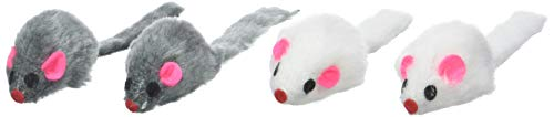 Ruff'N'Tumble Lot de 4 souris rembourrées à l'herbe à chat