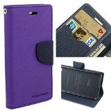 Mercury Diary Wallet Style Flip Cover Case for Xiaomi Redmi Note 4G / Redmi Note Prime PURPLE - By KPH  available at amazon for Rs.175