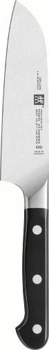 Zwilling Pro Santokumesser, 140 mm (Rostfreier Spezialstahl, Zwilling Sonderschmelze, genietet, Vollerl, Kunststoff-Schalen) schwarz