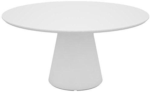 Andreu World ME5080 Table de Réunion Rond Laqué Bois Blanc 168 x 1680 x 74,5 cm