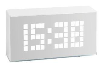 Preisvergleich Produktbild Klimakurt Time Block Digitalwecker Leuchtziffern 602012 incl. Brennenstuhl Adapter 1508030