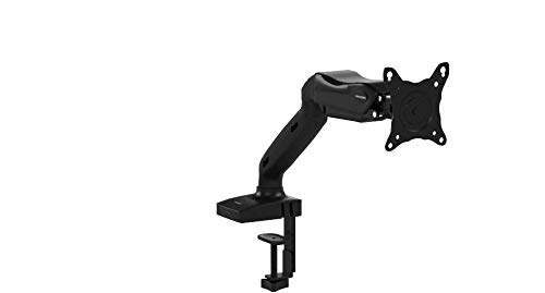 """Invision® Monitor Halterung - Ergonomische Gasgestützte Vollbewegliche Einarm für 43-68,5 cm (17""""-27"""") Bildschirme - Neigbar mit Klemme - VESA 75x75 und 100x100 mm. Wiegt 2-6,5 kg (MX150)"""