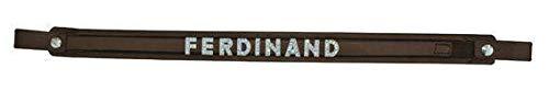 HKM Stirnband für die Buchstaben mit weicher Unterlage, braun, Vollblut