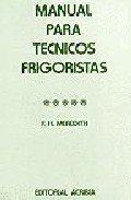 Manual para técnicos frigoristas por F. H. Meredith