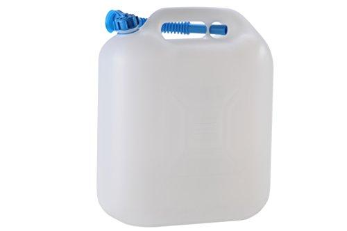 hünersdorff Wasserkanister ECO mit Auslaufrohr und unverlierbarer Deckelverschraubung, 22 Liter, Made in Germany