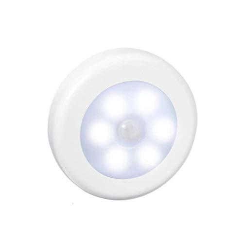 JCZR Induktionslampen-Schranklicht des Intelligenten LED-Lichtsteuerungs-menschlichen Körpers Runde Induktionslampe,White-PC-81x81x18(mm)