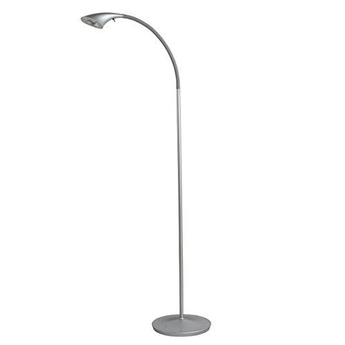 Industriedesign Stehleuchte 142cm chrom Metall Farbe 1 flammig LED schwenkbar modern urban Leuchtmittel inklusive 1*6.5W LED 585LM
