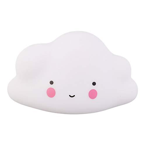 Kleine Wolken Lächeln Gesicht Licht Ausstrahlen Kinder Baby Kinder Schlafzimmer Nette Dekoration Atmosphäre Nachtlicht - Weiß