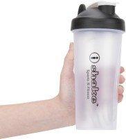 ishake Cap Translucent Plastic Shaker Bottle, 600ml (Black/Translucent)  available at amazon for Rs.199